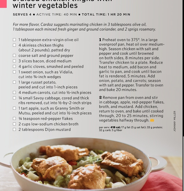 braised chicken thighs with winter vegetables – Donna A Day
